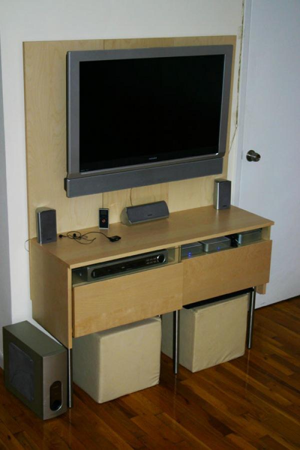 ikea hack raised tv panel matt katz more light more light. Black Bedroom Furniture Sets. Home Design Ideas