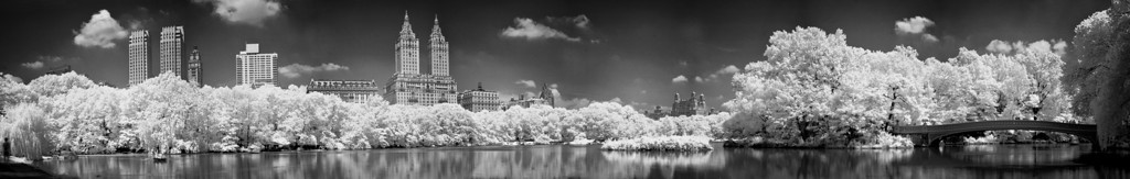 Central Park in infrared panorama