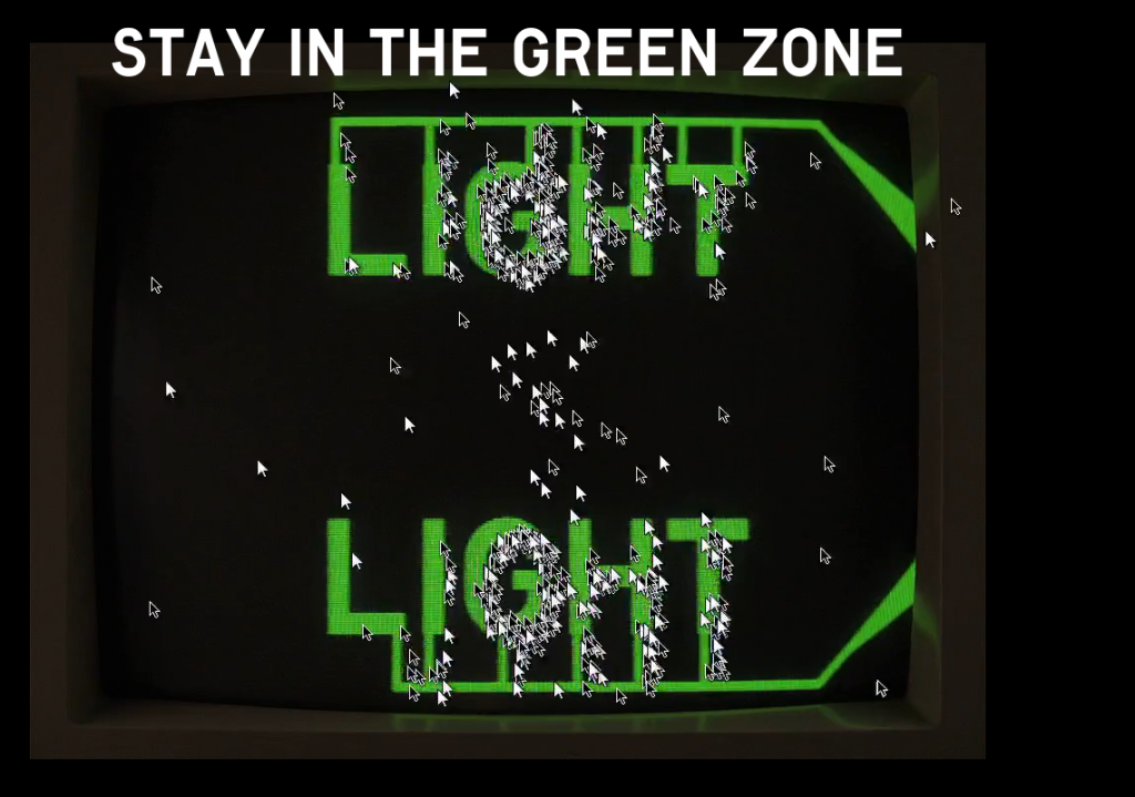 Light Light Video - cursors stay in the green zone